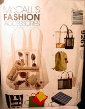 Pattern 9261 to make Tote Bags & Backpack - $5.00