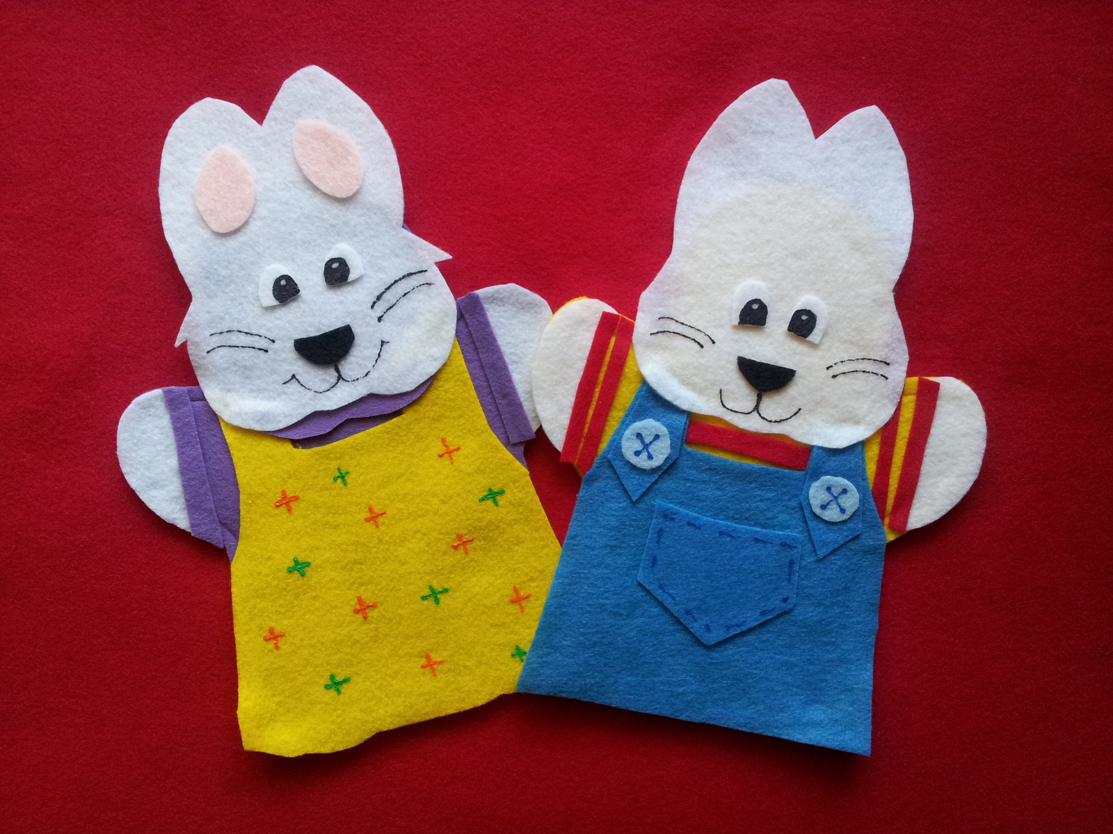 Max and Ruby hand Puppets