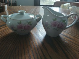 """Vintage Meito China """"Sweet Heart"""" Covered Sugar And Creamer - $3.47"""