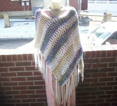 Hand Crochet Monster In Law Poncho MAde 2 Order Celebrity J Lo FREE US SHIP - $82.50