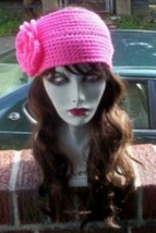Hand Crochet - Flowered Headwrap Earwarmer Coif Made 2 Order Match Your ... - $19.25