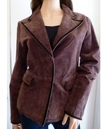 Wilson's Leather Brown Suede Leather Blazer Size M - $14.84