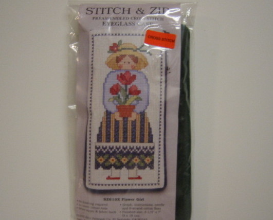 Primary image for Stitch & Zip Cross Stitch Eyeglass Case Kit Flower Girl