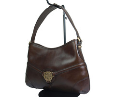 Authentic GUCCI GG Logo Leather Brown Shoulder Bag GS17284L - $259.00