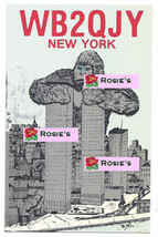 1985 RARE Postcard Art signed RINT King Kong NY Twin Towers Mark Levy QS... - $89.99