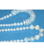 Vintage Jewelry Necklace Baby Blue Easter Jewelry Chunky Beads Set of Tw... - $59.99