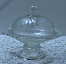 Vintage Crystal Madrid Recollection Indiana Glass Pedestal Domed Butter ... - $18.00