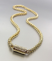 """CLASSIC Designer 18kt Gold Plated 20"""" Cable Chain Magnetic Clasp Necklac... - $21.99"""