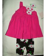 Bonnie Baby Girl's 2 Pc Daisy Capri Set, Size 12 Months - $19.99