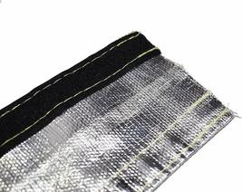 "Heat Shroud Aluminized Sleeving with Hook and Loop Closure Silver 3/4""x36"" (3ft) image 9"