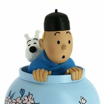 Tintin & Snowy in vase resin statue Icons collection The Blue Lotus image 2