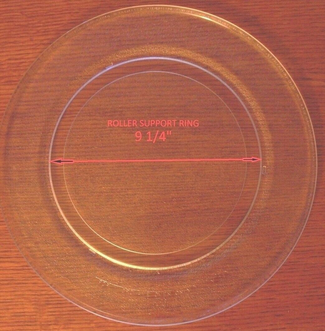 "Primary image for 14 1/8 "" GE WB49X10048 GLASS TURNTABLE PLATE / TRAY 9 1/4"" Track Used"