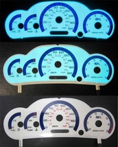 00-05 Kilometers Per Hour 180kph Chevy Cavalier w/RPM White Face Glow Ga... - $28.70