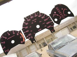 1998 2002 Kilometers At Honda Accord Carbon Fiber White Glow Through Face Gauges - $34.65