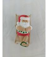 American Greetings Santa Claus Ornament Sun Bathing Christmas - $7.15