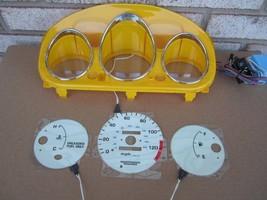 1996 2000 Honda Civic Dx Manual Mt Stick Glow Gauges & Yellow Cluster Euro Dash - $31.67