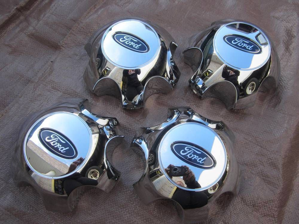 Genuine Ford 2009-2014 F150 Chrome Center Hub Caps For 18