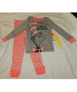 New Girls Dr Seuss Pajamas Cat in the Hat Size 4 Toddler Kid Long Sleeve... - $16.82