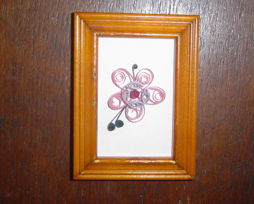 Paper Quilled Paper Flowers in Frame.- Handcrafted - $14.99
