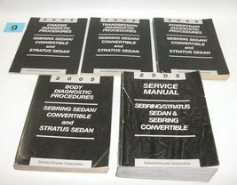 2005 Chrysler Sebring Dodge Stratus Factory Service Manual Set GOOD USED... - $77.17