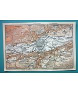 1905 MAP Baedeker - AUSTRIA Innsbruck & Environs - $6.71
