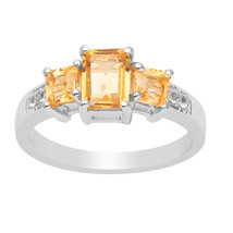 Beautiful Citrine Stone 925 Sterling Silver Ring Shine Jewelry Size-9 SH... - €12,94 EUR