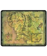 """Map Middle Earth Lord Of The/The Hobbit  Bed Throw Fleece Blanket 50""""X60... - $45.00"""