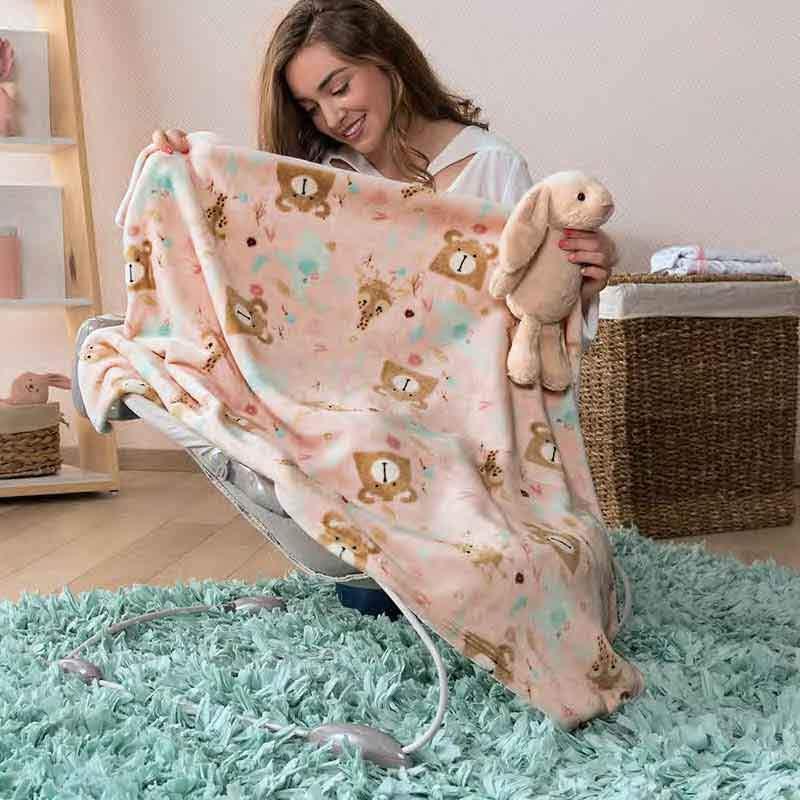 Lightweight Teddy Bear Baby Girl Baby Stroller Blanket by ...