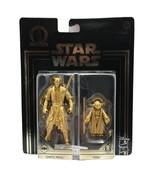 Star Wars Commemorative Edition Darth Maul Yoda Sith Jedi Gold Figures - $14.99