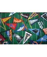 NFL Pennants Cotton Quilt Vintage Football OOP FQ - $6.00