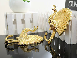 Gold Peacock Decorative Wall Hook Metal Wall Hooks Curtain Tie Back Tiebacks - $9.00