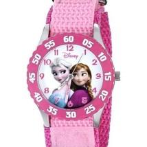 Pink Disney Frozen Girls Wrist Watch Stainless Steel Quartz Nylon Band J... - $704,49 MXN