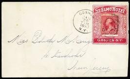 Attractive 1893 St Elmo Hotel Collar Advertising Cover - Stuart Katz - $90.00