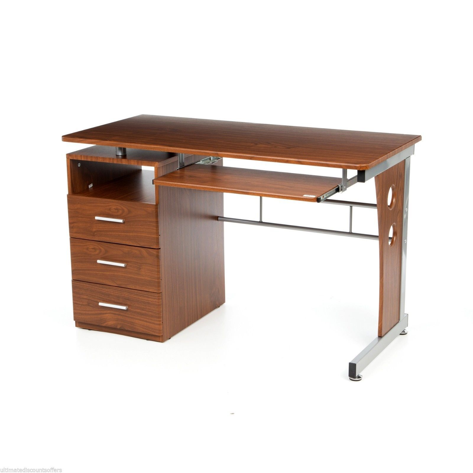 Marvelous photograph of Office Furniture Computer Desk Home Business Computer Modern Wood Side  with #AD5119 color and 1600x1600 pixels