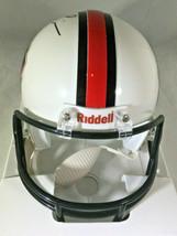 RAY LEWIS / NFL HALL OF FAME / AUTOGRAPHED HALL OF FAME LOGO MINI HELMET / COA image 4