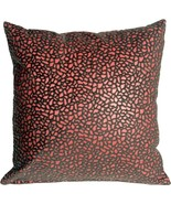 Pillow Decor - Pebbles in Red 18x18 Faux Fur Throw Pillow - $19.95