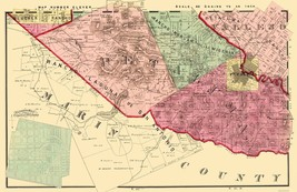 Sonoma  Southwest California Landowner - Thompson 1877 - 23 x 35.57 - $36.95+