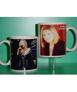 Barbra Streisand 2 Photo Designer Collectible Mug - $14.95