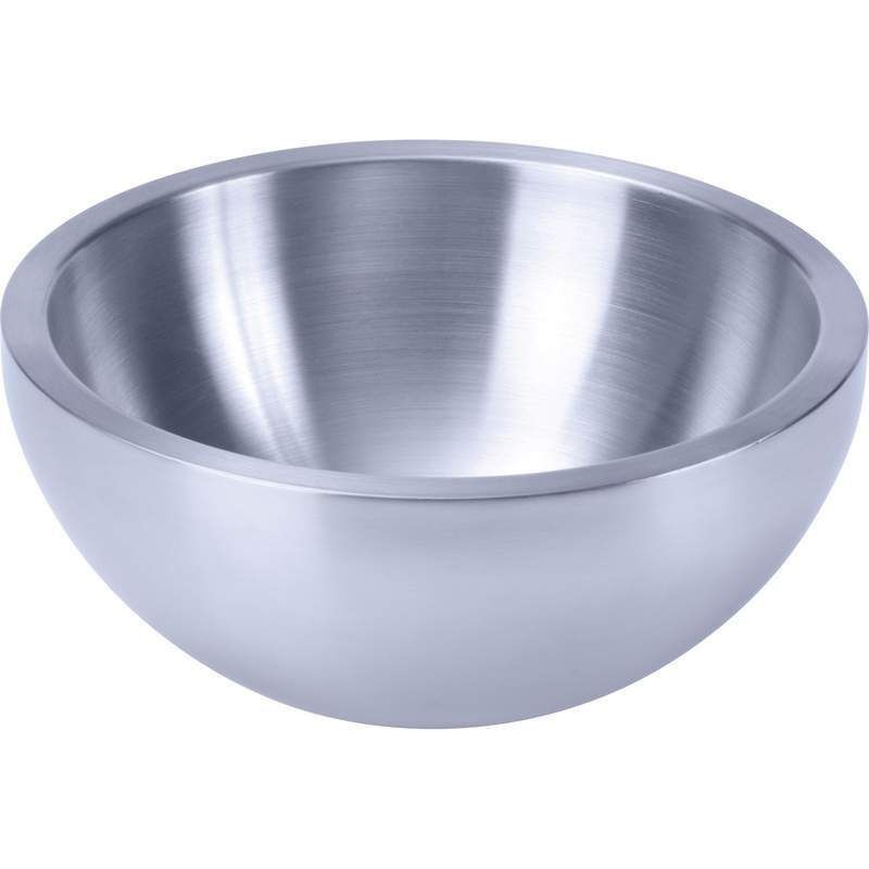 "NIB Chef's Secret® Stainless Steel 9.5"" Double Walled Salad Bowl"