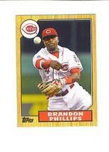 Brandon PHILLIPS 2012 Topps 1987 TOPPS MINIS Insert Card Cincinnati REDS - $1.49
