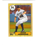 Josh JOHNSON 2012 Topps 1987 TOPPS MINIS Insert Card Florida MARLINS - $1.49