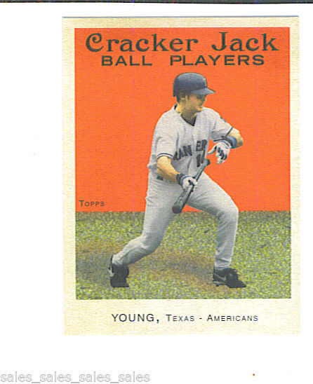 Michael YOUNG 2004 Topps Cracker Jack MINI Parallel Card 168 Texas RANGERS