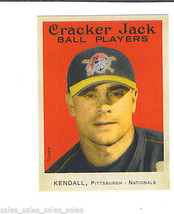 Jason KENDALL 2004 Topps Cracker Jack MINI STICKER Parallel Card 93 PIRATES - $1.29