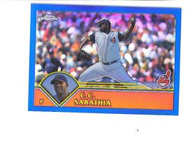 C. C. Sabathia 2003 Topps Chrome Refractor Parallel Card 642/699 Indians - $4.99