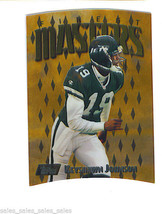 Keyshawn Johnson 1997 Topps Finest Die Cut Embossed Parallel Rare Gold Jets - $4.99