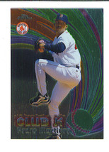 Pedro Martinez 1999 Topps Chrome All Etch Insert Card Boston Red Sox - $3.99
