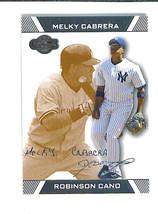 Robinson CANO Melky CABRERA 2007 Topps Co Signers BRONZE Parallel 20/275... - $3.49