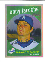 Andy La Roche 2008 Topps Heritage Chrome Refractor Parallel Card 117/559 Dodgers - $3.99