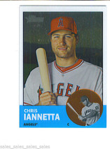 Chris IANNETTA 2012 Topps Heritage CHROME Parallel Card HP39 1109/1963 A... - $4.49