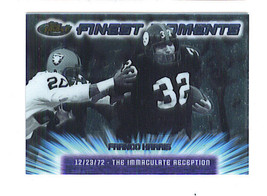 Franco Harris 2000 Topps Finest Moments Insert Card Pittsburgh Steelers - $1.99